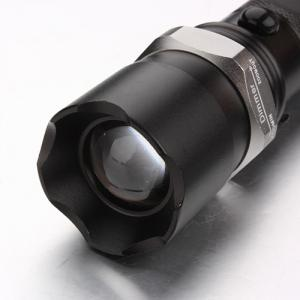 Customized 180lm CREE Q5 LED ZOOMABLE Police Torch Light with 18650 battery AC/DC Charger