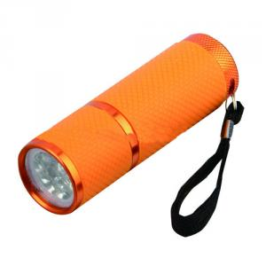 Hot Sales Colorful 9 Led Flashlight With Holster