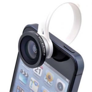 Wholesale 2014 Hot Sell 180 Degree Circle Clip Fisheye Fish Eye Lens For Smartphone Iphone5C Ipad Air Samsung/Htc/Nokia