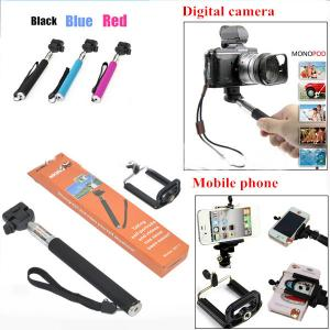 Mobile Phone Selfie Holder,Self Portrait Stick Monopod,Extendable Hanheld Monopod With Phone Holder