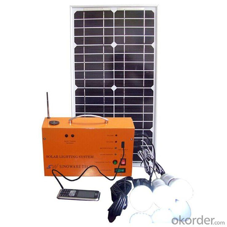 China Factory Best 10W 18V Solar Panel 7A Battery Solar System With Radio