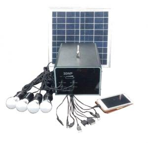 China Factory 30W 18V Solar Panel 24A Battery Solar System Made In China With Mobile Charge Charging Control