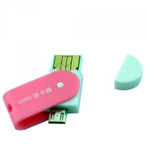 Delicate smartphone mall OTG micro USB card reader