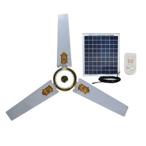 DC Solar Ceiling Fan with Remote Control