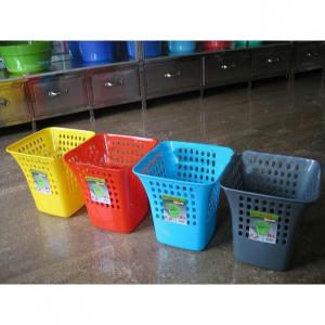 Plastic Colorful Mesh Wastebasket