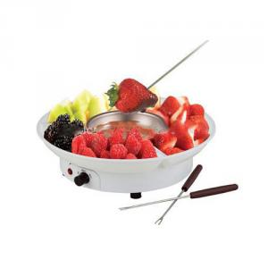 Electric Chocolate Fondue Family Set White Color
