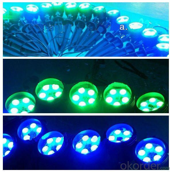 5*3W RGB LED Garden Light With Spike And Base From China Factory