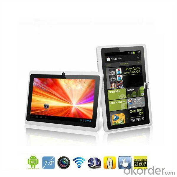 Boxchip A13 Tablet 512Mb/4Gb 7 Inch Q88 Tablet Manufacturer From China