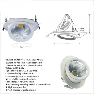 Hot Selling 30watt COB Adjustable Led Downlight