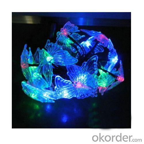 3.9 Meter Rgb Color Changing Butterfly Solar String Light For Christmas Holiday Decoration Ib-Sl-006
