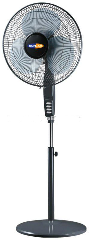 Stand Fan with 12V 16 Inch Solar Power