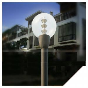 15W Round Outdoor Garden LED Light With Pmma Lampshade With 2.5M-4M Pole From China Factory