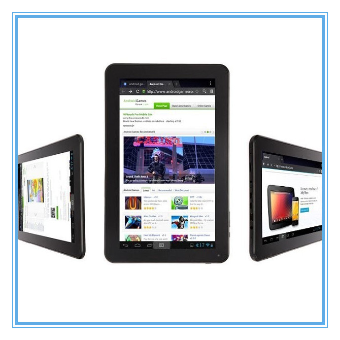 10.1Inch Android Tablet, Allwinner A23 Dual Core Android 4.2 Dual Camera Android Tablet From China