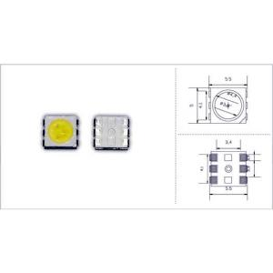 0.2W 20 to 25Lm 5050 White Top SMD LED