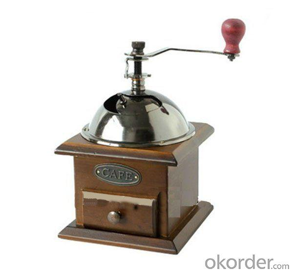 New Manual Coffee Grinder Made Of Iron Wood