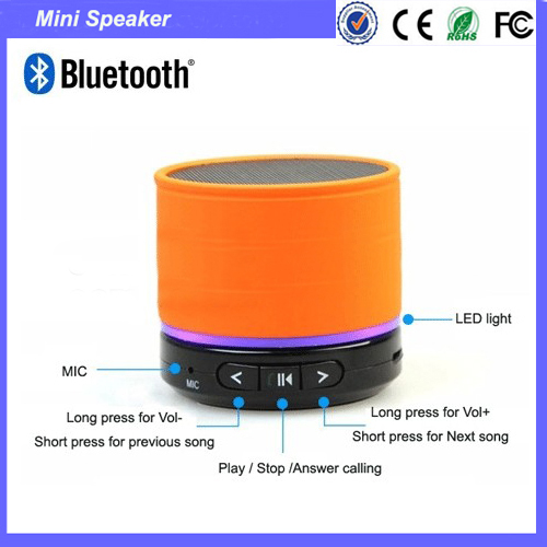 Mini Bluetooth Speaker S11 With Bluetooth Version 4.0 Promotional Gift With Good Factory Price