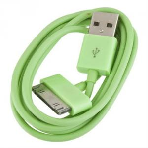 New Green Usb 2.0 Data Sync Charger Cable For Apple Iphone 4G Ipod
