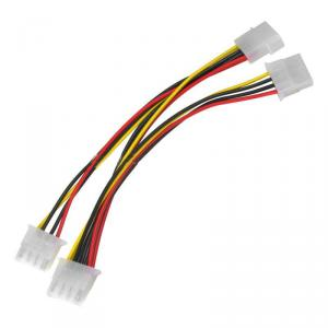 For 4-Pin Ide 1 To 3 Splitter Power Cable