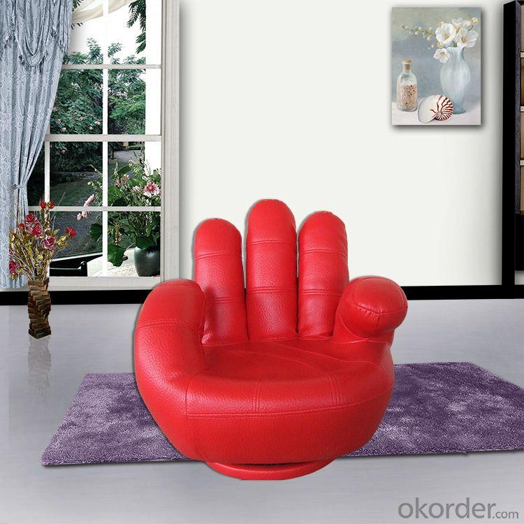 High Quality Special Finger Shape PVC Red Children Sofa