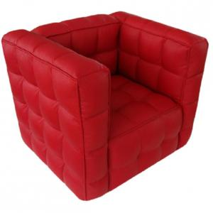 Red Fabric Kids' Sofa High-elastic Foam Comfortable and Durable