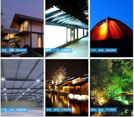 4w 10w 20w 50w 80w 100w Solar Lighting System With Mobile Charge 4 LED Bulbs 4000mah liion Battery Black CE ROHS