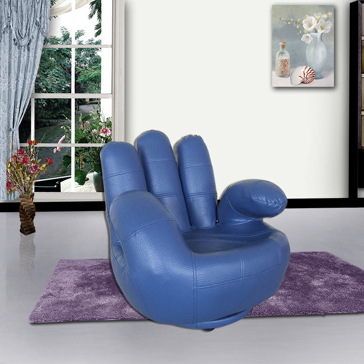 Blue Finger Style Kids' Single Sofa Attractive Design Comfortable