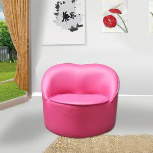 Pink Heart Shape Kids' Single Sofa Ergonomic Design Durable