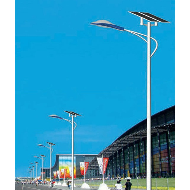China Factory 80W Solar Street light 80W LED Lamp 260w Solar Panel 8m Pole With 5 Year Warranty