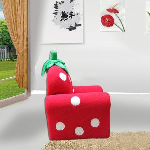 Strawberry Style Children's Single Sofa with High-elastic Foam