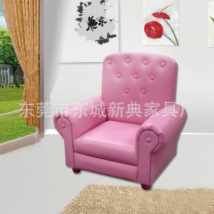 Red Fabric Kids' Sofa High-elastic Foam Comfortable and Durable