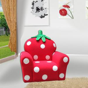 Strawberry Style Children's Single Sofa with High-elastic Foam