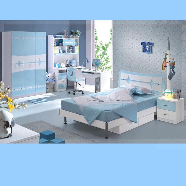 Buy Light Blue White Color Children Furniture Sets Kids Bedroom