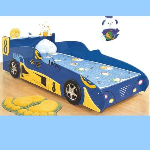 Dark Blue Car Bed For Kids Bedroom Furniture