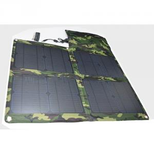 2014 Newest Portable Camouflage Folding Solar Charger 40w 2100mah 5v 18v USB Flexible Solar Charger For Smartphone Laptop