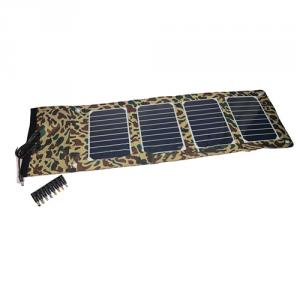 China Factory Quality 2100Mah Camouflage Foldable Solar Charger For Mobile Phones For Laptops Foldable Solar Charger