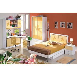 Yellow Color Children Bedroom Furniture Cute Bedroom Sets