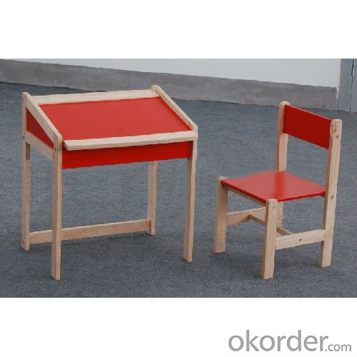 red children table and chair