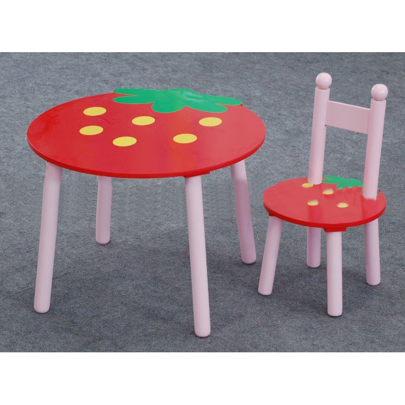 2014 Hot Sell Wooden Kids Strawberry Table Sets For Study/Dining From China Factory