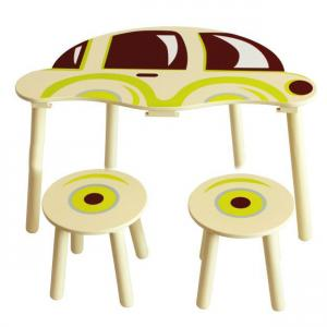 Hot Selling China Factory Car Design Wooden Children Table Set Children Study Table