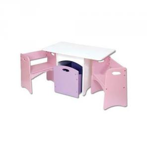 2014 Beautiful Pink Double Layer Children Study Table With Bookcase High Quality School Student Desk