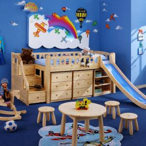 Children Furniture Sets Kids Bedroom/ Room For Studying Furniture With Children'S Slids