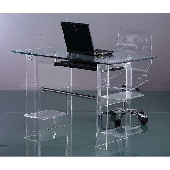 Acrylic Computer Desk Clear Furniture Modern Table