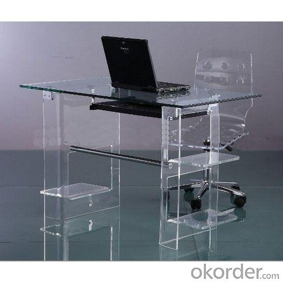 Acrylic Computer Desk Clear,Furniture Computer Desk,Modern Computer Table