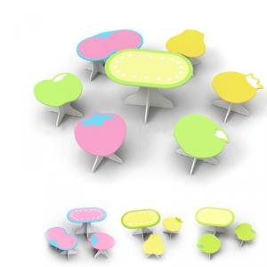 Kindergarden Kids Table And Chair Set, Newest Design Children Preschool Study Furniture Set