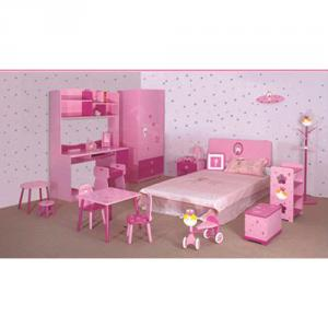 2014 Latest Room Furniture,Children Bedroom Set Pink Color For Girl Style