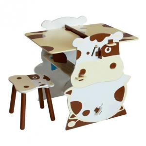 China Manufacture Wooden Children Table Cute Cartoon Cowabunga Kids Desk