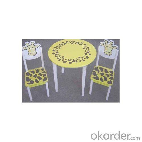 China Factory Cartoon Yellow Giraffe Round Table, Children Dinning Table, Kids Study Table