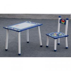 Wooden Cartoon Bus Car Table And Chair For Pre-School Children, Kids Cute Cartoon Table And Chair