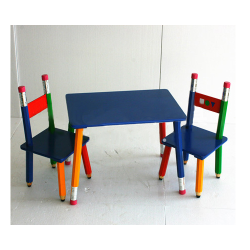 Hot Selling Popular Pencil Shape Stand Cartoon Wooden Table For Kids  Bedroom Study Play