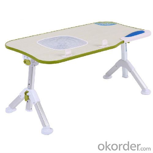 China Factory High Quality Foldable Kids Table Angle Adjustable Height Children Computer Table With Fan